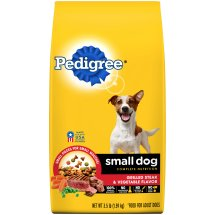 PEDIGREE Small Dog Steak and Vegetable Flavor Dry Dog Food 3.5 Pounds