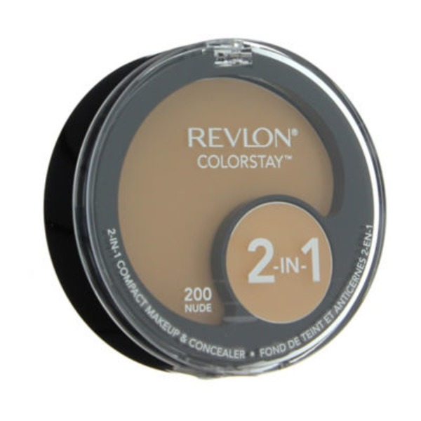 Revlon Colorstay 2-in-1 Compact Makeup And Concealer, Nude