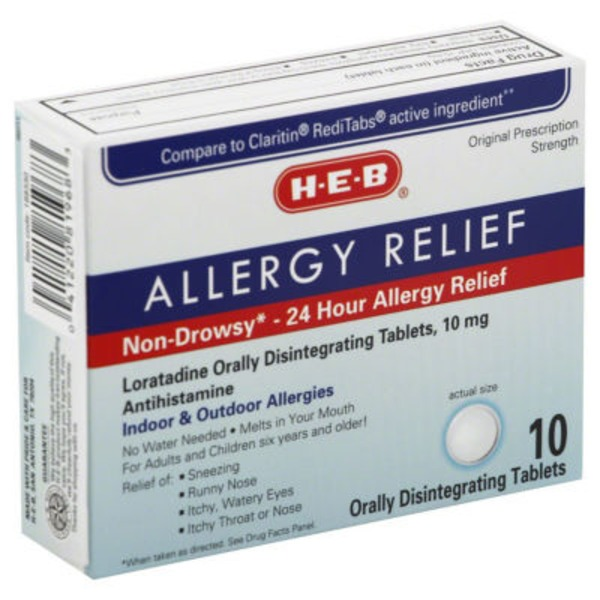 H-E-B 24 Hour Non Drowsy Allergy Relief Tablets