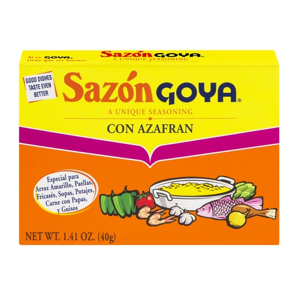 Goya Sazon Goya A Unique Seasoning Con Azafran