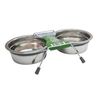 Loving Pets Silent Gray Double Diner