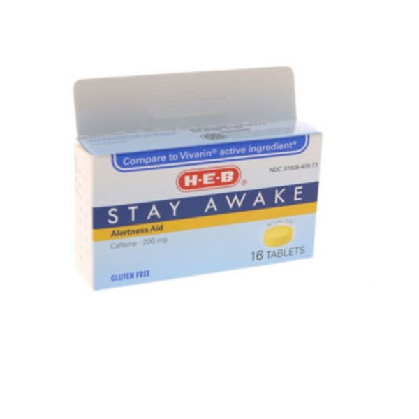 H-E-B Stay Awake Maximum Strength Tablets