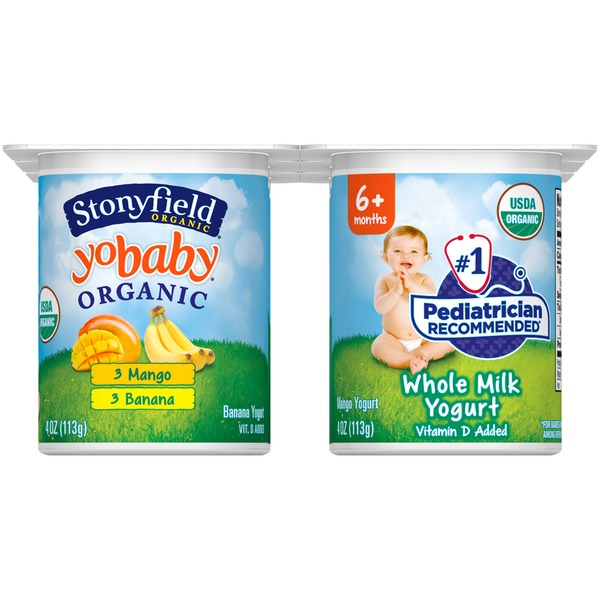 Stonyfield Organic Yobaby Mango & Banana Whole Milk Organic Yogurt