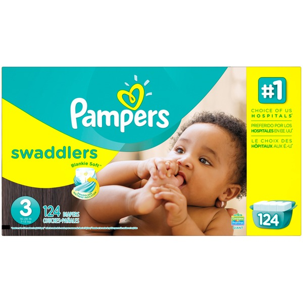 Pampers Swaddlers Pampers Swaddlers Diapers Size 3 124 count Diapers