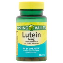 Spring Valley Lutein with Zeaxanthin Softgels, 6 mg, 30 Ct