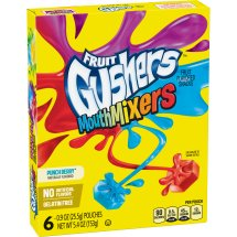 Betty Crocker Gushers Mouth Mixers Punch Berry, 6 ct, 5.4 oz, 6.0 CT