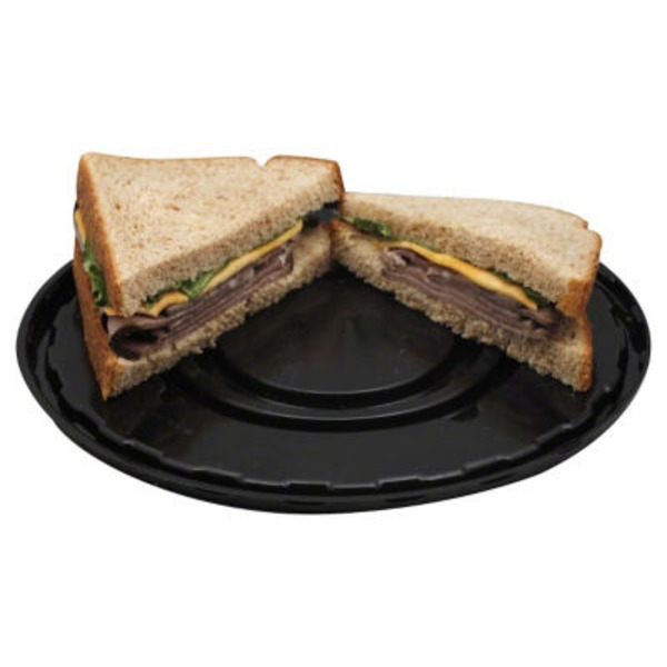 Hill Country Fare Deli Style Roast Beef And Cheddar Cheese Sandwich On Wheat Bread