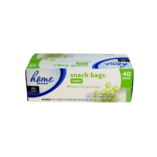 Home Sense Zipper Snack Bags