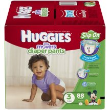 HUGGIES Little Movers Slip-On Diaper Pants, Size 3, 88 Diapers