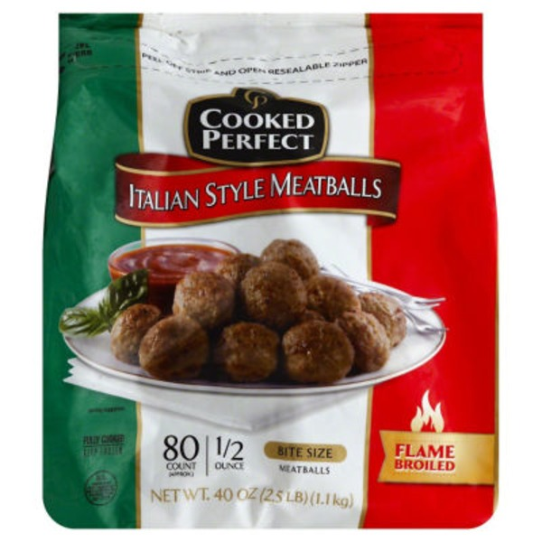 Cooked Perfect   Us Italian Style Bite Size Meatballs