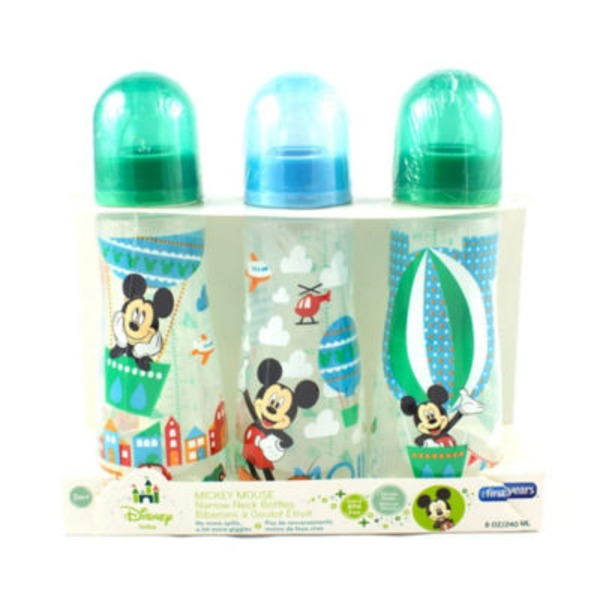 The First Years Disney Mickey Mouse Slim 8 Oz Bottles