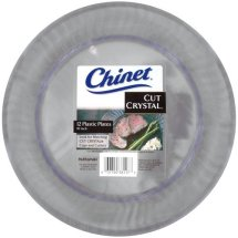 Chinet Cut Crystal Plastic Plates, 10', 12 Count