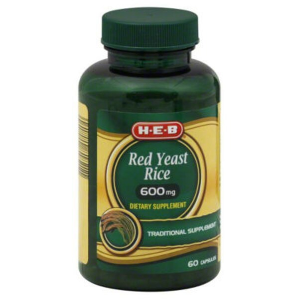 H-E-B Red Yeast Rice 600 Mg Capsules