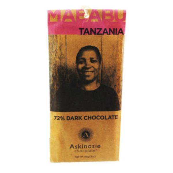 Askinosie Chocolate Tanzania 72% Dark Chocolate Bar