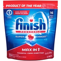 Finish Powerball Max in 1 Super Charged Tablets Automatic Dishwasher Detergent