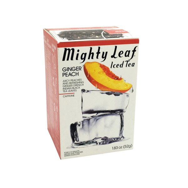 Mighty Leaf Iced Tea, Ginger Peach, Pouches