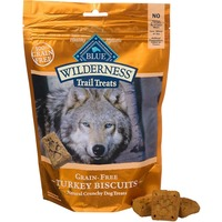 Blue Buffalo Dog Treats, Turkey Biscuits, Grain-Free, Trail, Bag