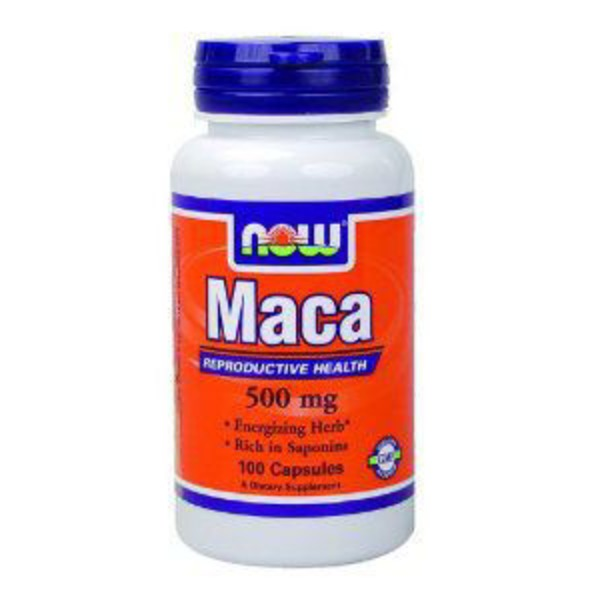 Now Maca 500 mg Reproductive Health Dietary Supplement