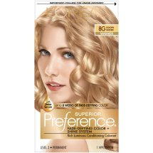 L'Oreal Paris Superior Preference Fade-Defying Color + Shine Hair Color, 8G Golden Blonde, 1 Kit