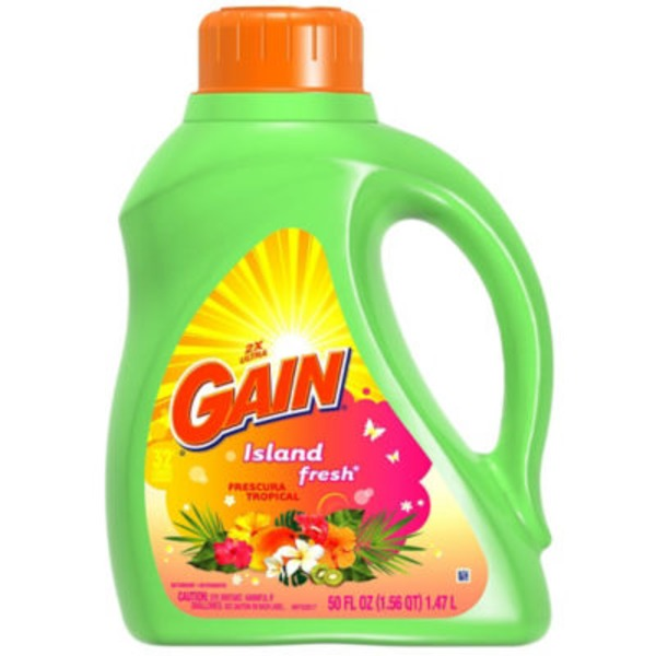 Gain Liquid Laundry Detergent, Island Fresh Scent, 32 loads, 50 oz Laundry