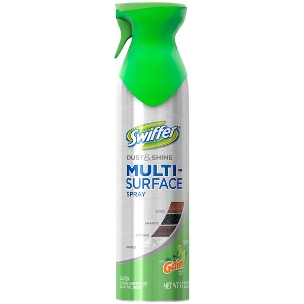 Swiffer Dust & Shine Multi-surface Furniture Polish Spray Cleaner Gain Original Scent 9.7 Oz Surface Care