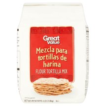 Great Value Flour Tortilla Mix, 4 lb