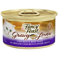 Fancy Feast Gravy Lovers Chicken & Beef Feast in Grilled Chicken Flavor Gravy Cat Food