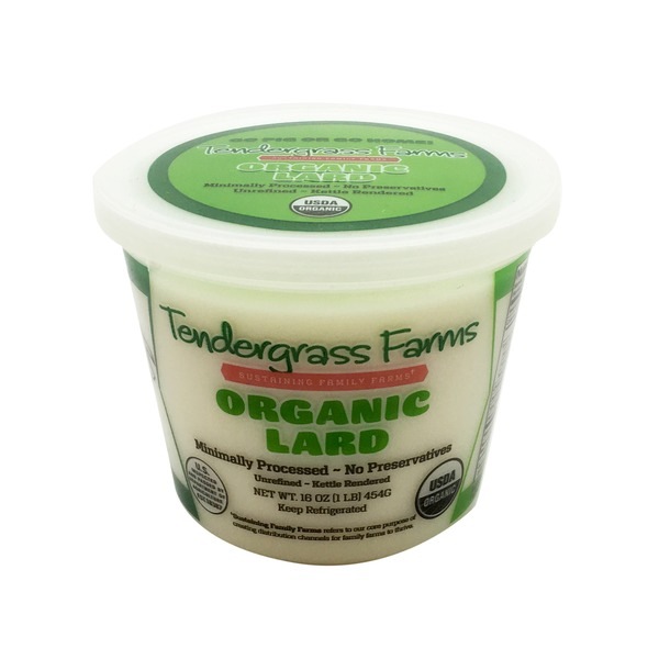 Tendergrass Farms Lard, Organic