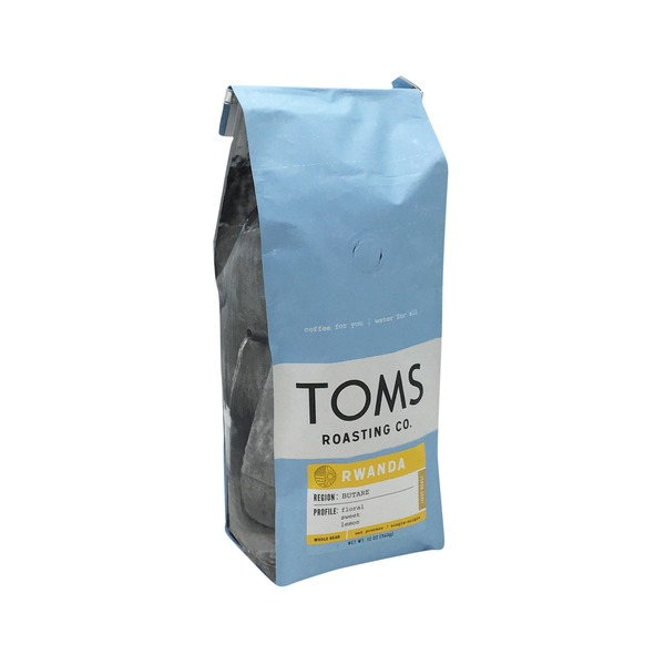 Toms Roasting Co Rwanda Light Roast Ground Coffee