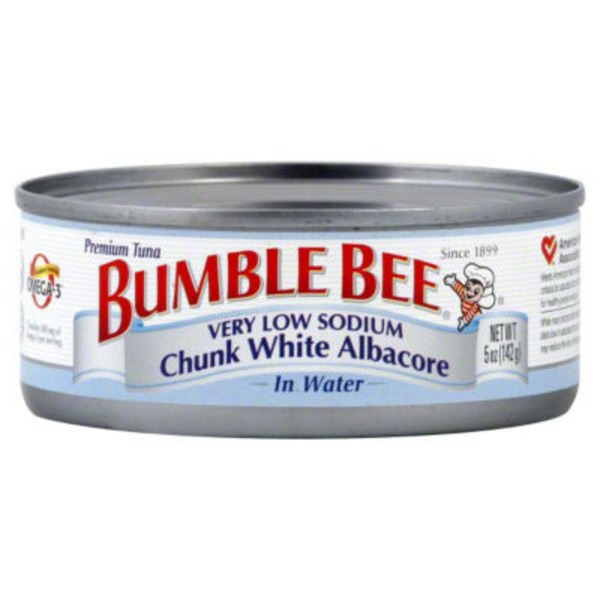 Bumble Bee Gourmet Very Low Sodium Solid White Albacore in Water Tuna