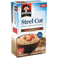 Quaker Oatmeal Steel Cut Brown Sugar & Cinnamon Quick 3-Minute Oatmeal