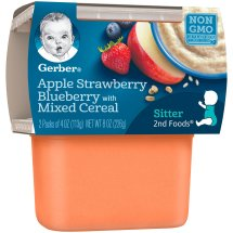 Gerber® 2nd Foods® Apple Berry with Mixed Cereal Baby Food, 4 oz, 2 count