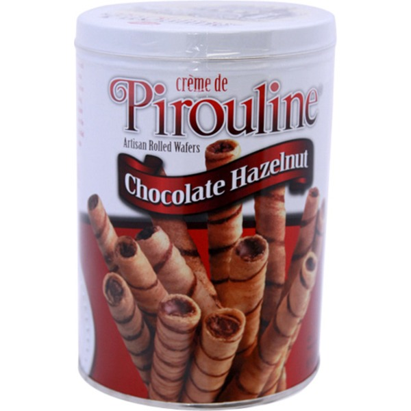 Creme De Pirouline Chocolate Hazelnut Artisan Rolled Wafers In Tin