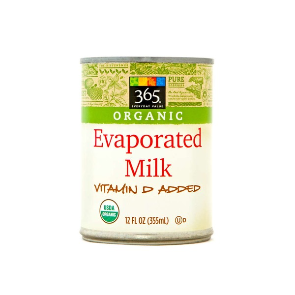 365 Organic Evaporated Milk Vitamin D Added