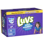 Luvs Super Absorbent Leakguards Diapers, Size 4, 100 Diapers