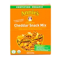 Annie's Homegrown Organic Cheddar Snack Mix, Assorted Crackers and Pretzels