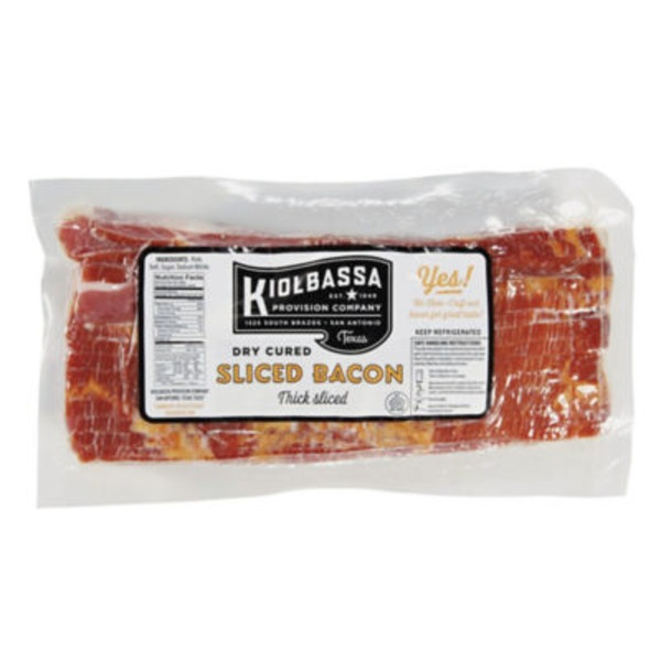 Kiolbassa Dry Cured Thick Sliced Bacon