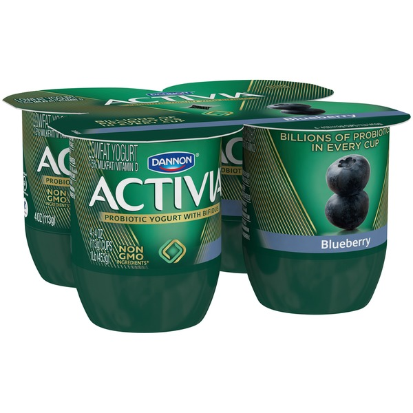 Activia Blueberry Lowfat Probiotic Yogurt