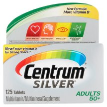 Centrum Silver Adult 50+ (125 Count) Multivitamin / Multimineral Supplement Tablets