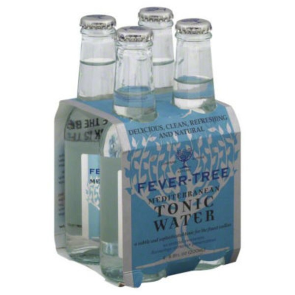 Fever-Tree Premium Natural Mixers Mediterranean Tonic Water - 4 CT