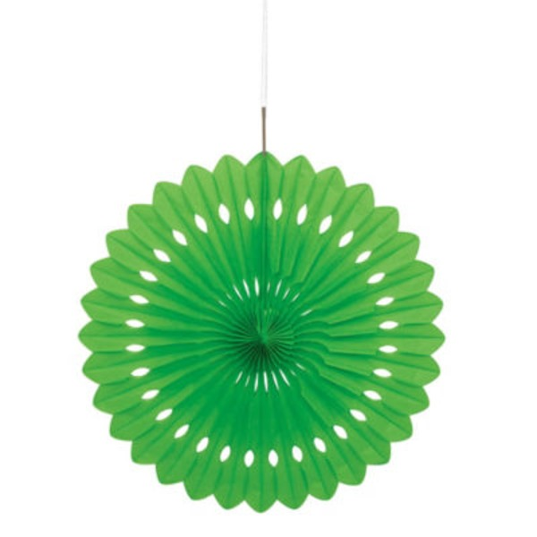 Unique 16 Inch Lime Green Decorative Fan
