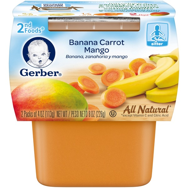 Gerber 2 Nd Foods Banana Carrot Mango Baby Food