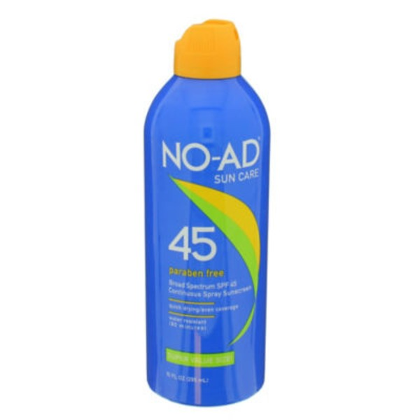 No Ad Sunscreen Spray SPF 45