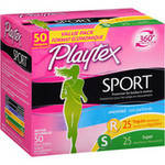 Playtex Sport Regular & Super Absorbency Multi-Pack Unscented Plastic Tampons