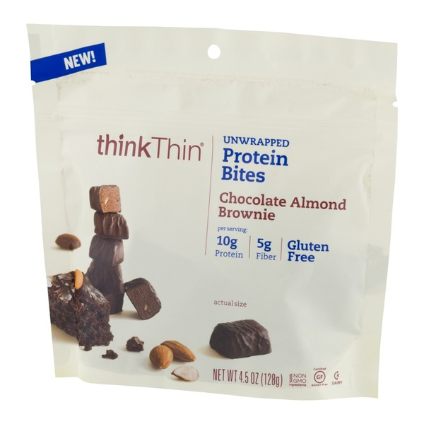 thinkThin Protein Bites Chocolate Almond Brownie