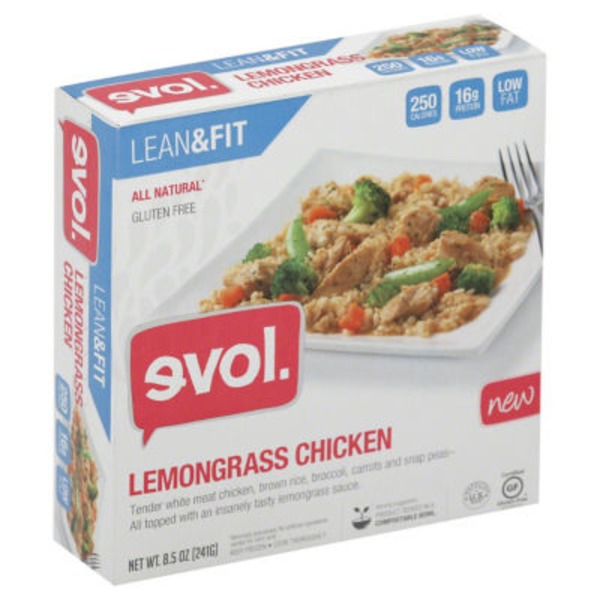 Evol Foods Lean & Fit Cocnut Lemongrass Chicken