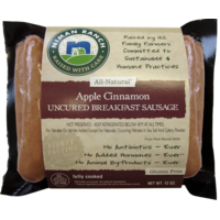 Niman Ranch Apple Cinnamon Uncured Breakfast Sausage