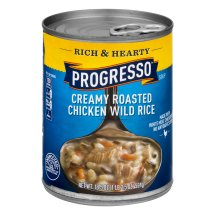 Progresso Rich & Hearty Creamy Roasted Chicken Wild Rice Soup, 18.5 oz can