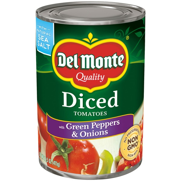 Del Monte Diced with Green Peppers & Onions Tomatoes