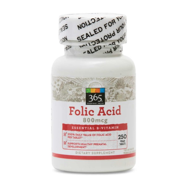 365 Folic Acid 800 Mcg